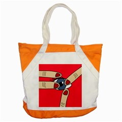 Poke in the eye Accent Tote Bag