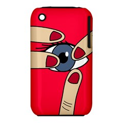 Poke in the eye Apple iPhone 3G/3GS Hardshell Case (PC+Silicone)
