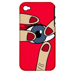 Poke in the eye Apple iPhone 4/4S Hardshell Case (PC+Silicone)