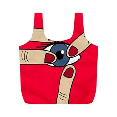 Poke in the eye Full Print Recycle Bags (M)
