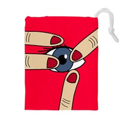 Poke in the eye Drawstring Pouches (Extra Large)