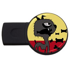 Angry little dog USB Flash Drive Round (1 GB)
