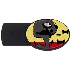 Angry little dog USB Flash Drive Oval (2 GB)