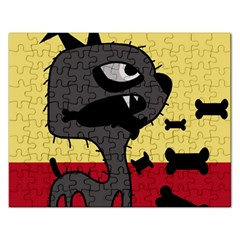 Angry little dog Rectangular Jigsaw Puzzl