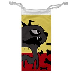 Angry little dog Jewelry Bags