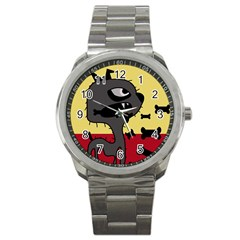 Angry little dog Sport Metal Watch