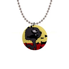 Angry little dog Button Necklaces
