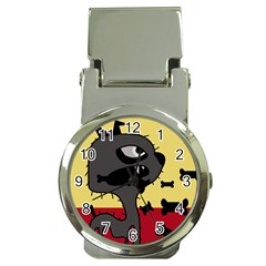 Angry little dog Money Clip Watches