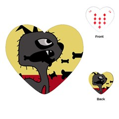 Angry Little Dog Playing Cards (heart)