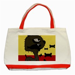 Angry little dog Classic Tote Bag (Red)
