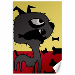 Angry little dog Canvas 24  x 36