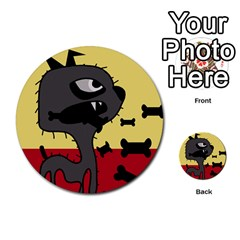 Angry little dog Multi-purpose Cards (Round)