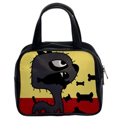 Angry little dog Classic Handbags (2 Sides)