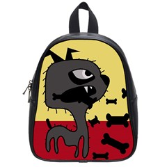 Angry little dog School Bags (Small)