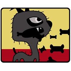 Angry little dog Fleece Blanket (Medium)