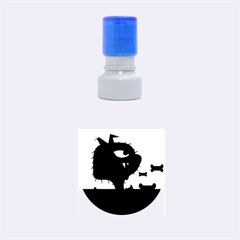 Angry little dog Rubber Round Stamps (Small)