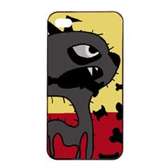 Angry little dog Apple iPhone 4/4s Seamless Case (Black)