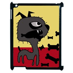 Angry little dog Apple iPad 2 Case (Black)