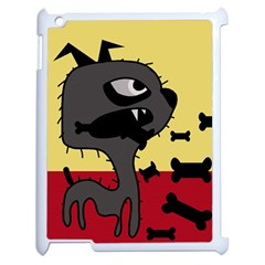 Angry little dog Apple iPad 2 Case (White)