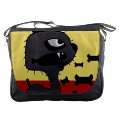 Angry little dog Messenger Bags