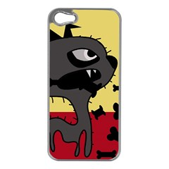 Angry little dog Apple iPhone 5 Case (Silver)