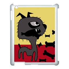 Angry little dog Apple iPad 3/4 Case (White)