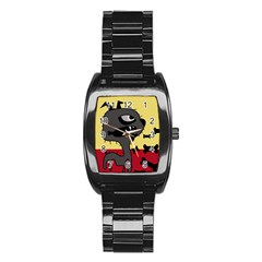 Angry little dog Stainless Steel Barrel Watch