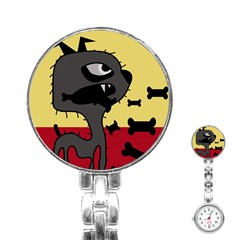 Angry little dog Stainless Steel Nurses Watch
