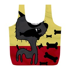 Angry little dog Full Print Recycle Bags (L)