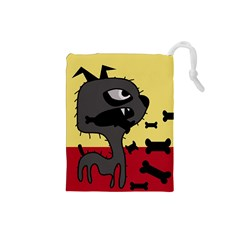 Angry little dog Drawstring Pouches (Small)