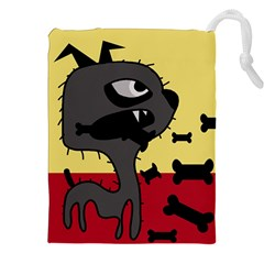 Angry little dog Drawstring Pouches (XXL)