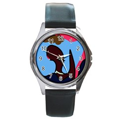 Sea monster Round Metal Watch