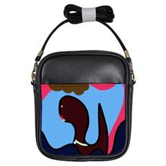 Sea monster Girls Sling Bags