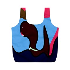 Sea monster Full Print Recycle Bags (M)