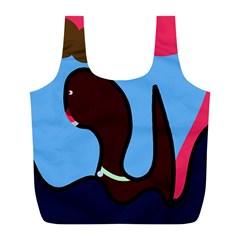 Sea monster Full Print Recycle Bags (L)