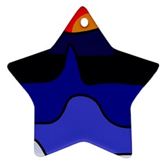 Waves Ornament (Star)