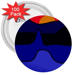Waves 3  Buttons (100 pack)