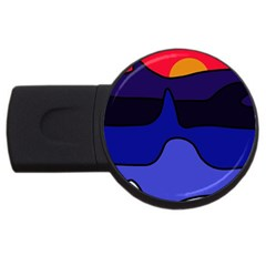 Waves USB Flash Drive Round (1 GB)