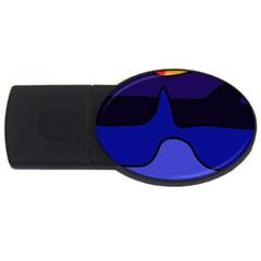 Waves USB Flash Drive Oval (1 GB)