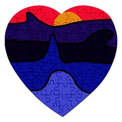 Waves Jigsaw Puzzle (Heart)