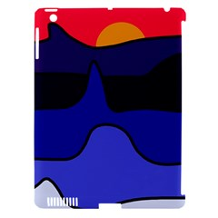 Waves Apple iPad 3/4 Hardshell Case (Compatible with Smart Cover)