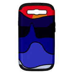 Waves Samsung Galaxy S III Hardshell Case (PC+Silicone)
