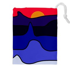 Waves Drawstring Pouches (XXL)