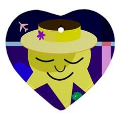 Mr. Sun Ornament (Heart)