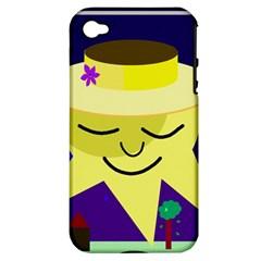 Mr. Sun Apple iPhone 4/4S Hardshell Case (PC+Silicone)