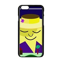 Mr. Sun Apple iPhone 6/6S Black Enamel Case
