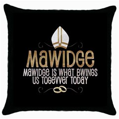 Princess Bride Black Throw Pillow Case