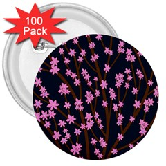 Japanese tree  3  Buttons (100 pack)
