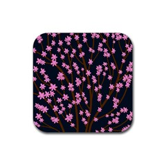 Japanese tree  Rubber Square Coaster (4 pack)