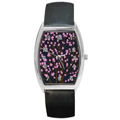 Japanese tree  Barrel Style Metal Watch